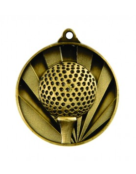 Medal - Two Tone Golf Gold
