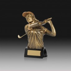 Golfer Female Trophy 160mm