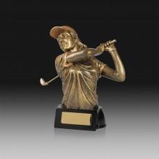 Golfer Female Trophy 160mm
