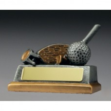 Golf Club, Ball & Tee Trophy 80mm