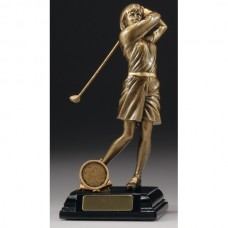 Female Golfer Trophy 230mm