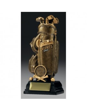 Golf Bag Trophy 160mm