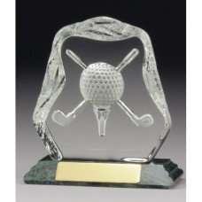 Golf Crystal on Marble Base 140mm