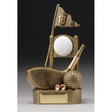 18th Tee Golf Trophy 180mm