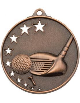 Golf Medal Stars Bronze 52mm
