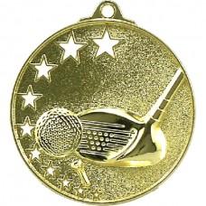 Golf Medal Stars Gold 52mm