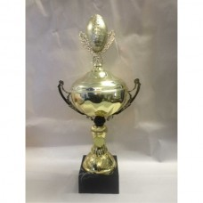 Gridiron Gold Cup with Ball & Wreath Figurine 330mm