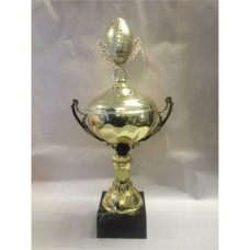 Gridiron Gold Cup with Ball & Wreath Figurine 400mm