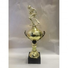 Gridiron Gold Cup with Running Figurine 400mm