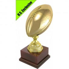 Gridiron Full Size Brass Ball Perpetual Trophy 430mm