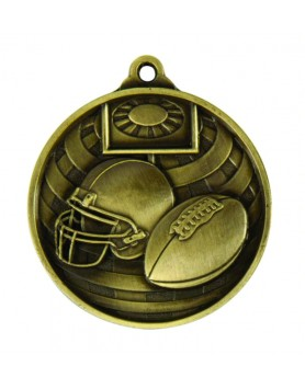 Medal - Two Tone Gridiron Gold 50mm
