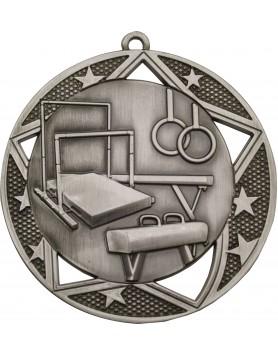 Gymnastics  Medal Silver - 70mm