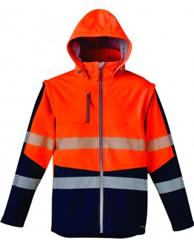 Jacket 2 in 1 Taped Softshell Unisex - Orange/Navy
