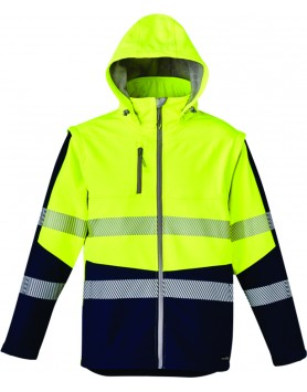 Jacket 2 in 1 Taped Softshell Unisex - Yellow/Navy