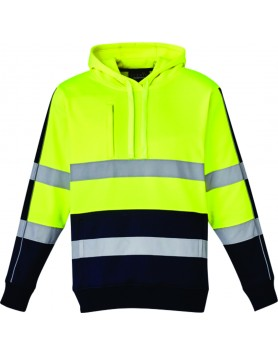 Hoodie Hi Vis Stretch Taped Unisex - Yellow/Navy