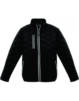 Jacket Hexagonal Puffer Unisex - Black