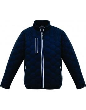 Jacket Hexagonal Puffer Unisex - Navy