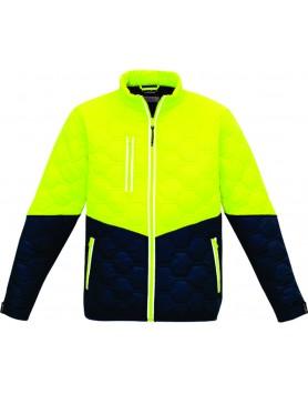 Jacket Hexagonal Puffer Unisex - Yellow/Navy