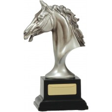 Silver Horse Head Trophy 195mm