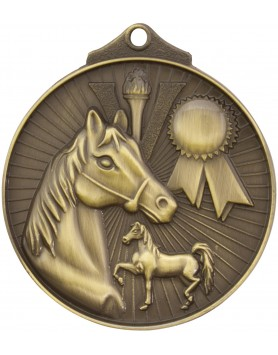 Horse / Equestrian Sunraysia Medal 52mm - Gold