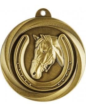 Medal - Horse / Equestrian Gold 50mm