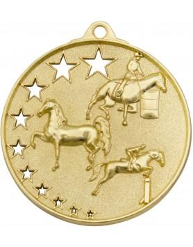 Horse / Equestrian Hollow Star Series 52mm - Gold