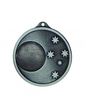 Generic 5 Star 50mm Antique Silver Medal with 25mm Insert
