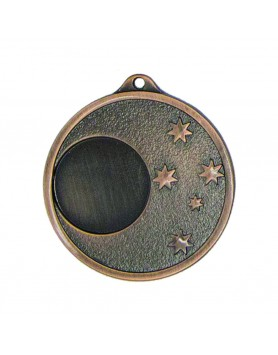 Generic 5 Star 50mm Bronze Medal with 25mm Insert