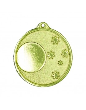 Generic 5 Star 50mm Gold Medal with 25mm Insert