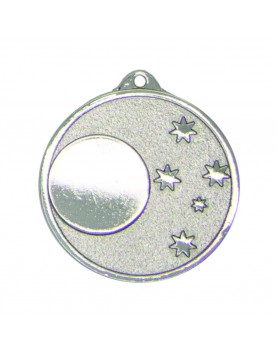 Generic 5 Star 50mm Silver Medal with 25mm Insert