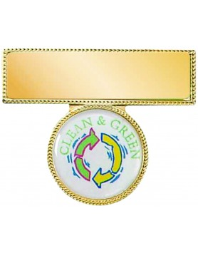 Name Badge Gold with 25mm Insert