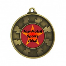 Generic Heavy Two Tone Medal 50mm - Gold