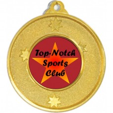 Generic Heavy Stars Medal 50mm - Gold