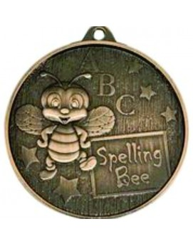 Spelling Bee Medal Bronze 52mm