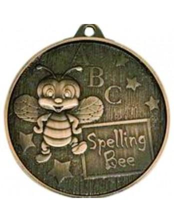 Spelling Bee Medal Bronze 52mm