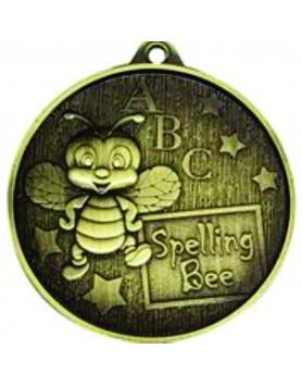 Spelling Bee Medal Gold 52mm