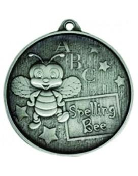 Spelling Bee Medal Silver 52mm