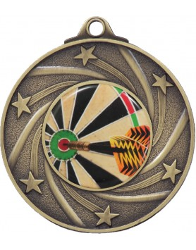 Medal - Spinning Stars Gold with 25mm Insert 50mm