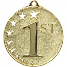 Generic Hollow Stars Medal Gold - 1st