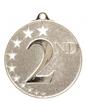 Generic Hollow Stars Medal Silver - 2nd