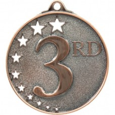 Generic Hollow Stars Medal Bronze - 3rd