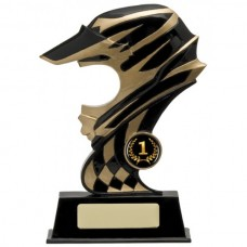 Helmet Open Faced Resin Trophy 185mm