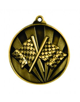 Medal - Two Tone Racing Gold