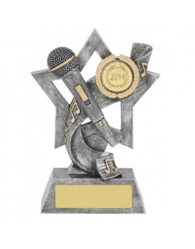 Microphone Resin Trophy 150mm