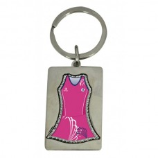 Keyring Netball Dress in Team Designs 46mm