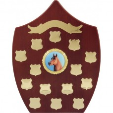 Perpetual Trophy Freestanding Shield Rosewood 290mm