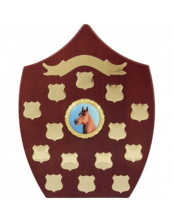Perpetual Trophy Freestanding Shield Rosewood 290mm