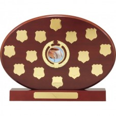 Perpetual Trophy Oval Rosewood 270mm