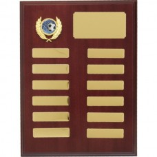 Perpetual Timber Plaque Dark Brown 300mm
