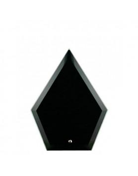 Glass Plaque Arrowhead Black 165mm